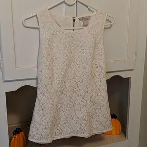Ladies white lace blouse